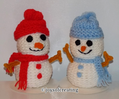 Loom Knit Snowmen Joys Of Creating